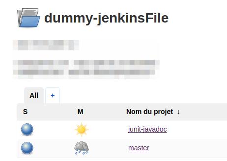 A sample project folder in Jenkins 2